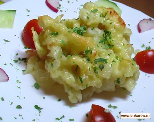 Рецепт Швабские сырные шпецле (домашняя лапша)