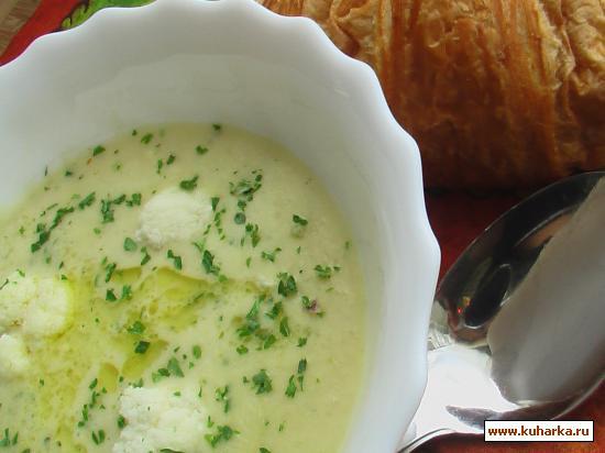 Рецепт Кремовый супчик из цветной капусты