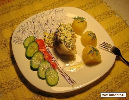 Рецепт Треска отварная по-польски