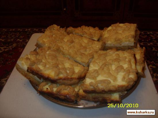 Рецепт Песочный пирог с творожной начинкой