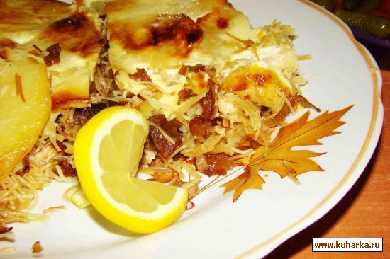Рецепт Запеканка мясная с вермешелью и картофелем