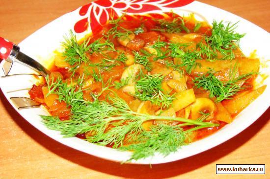 Рецепт Грибы, тушеные с картофелем
