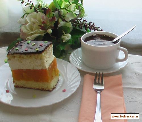 Рецепт Бисквит с апельсиновой начинкой