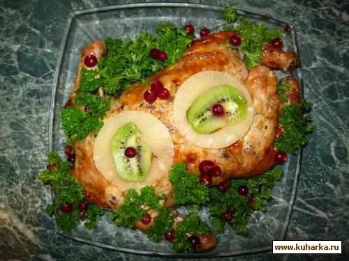 Рецепт Курица фаршированная блинами