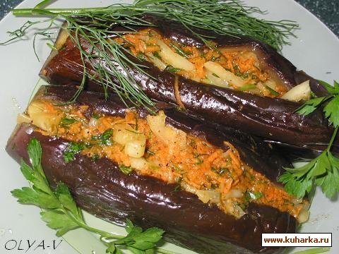 Рецепт Баклажаны с начинкой под маринадом