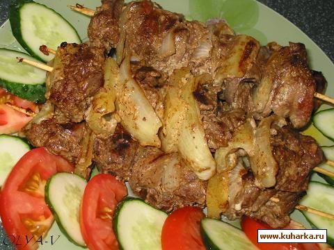 Рецепт Шашлычки из куриной печени