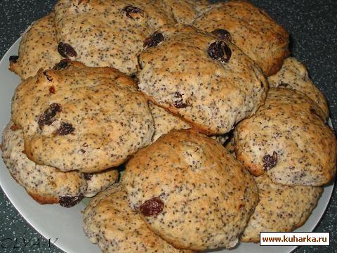 Рецепт Маковое печенье с изюмом