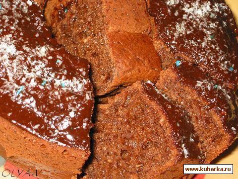 Рецепт Творожно-кокосовый кекс с какао.