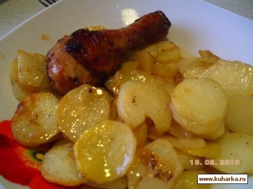 Рецепт Картошка с курочкой в Аэрогриле
