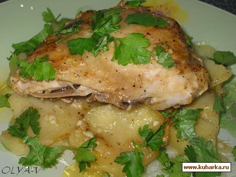 """Рецепт Куриные окорочка с картошкой, запеченные в """"конвертиках"""""""