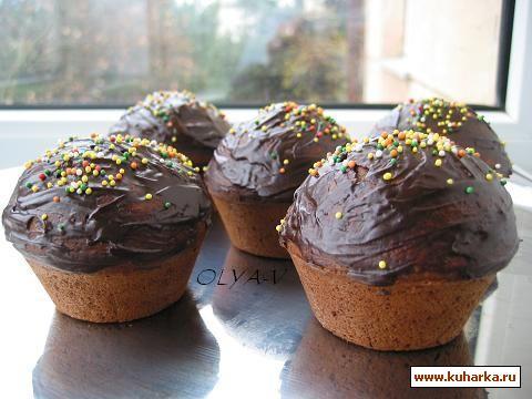 Рецепт Шоколадные маффины с кофейной начинкой