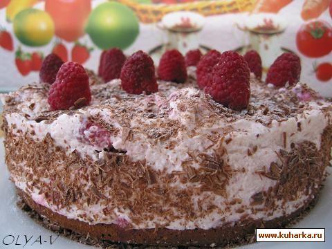 Рецепт Малиново-шоколадный торт-суфле