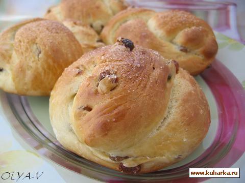 Рецепт Ванильные булочки с изюмом