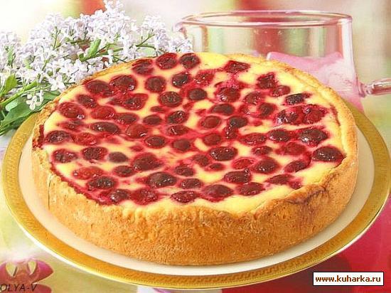 Рецепт Пирог-сметанник с ягодами
