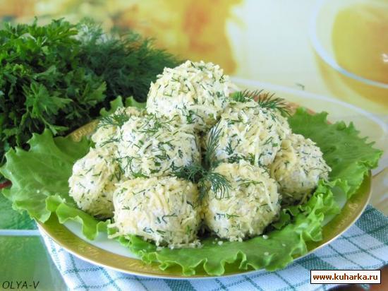 Рецепт Куриные шарики с сыром