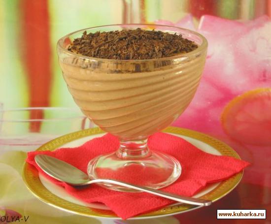 Рецепт Творожно-шоколадное суфле с апельсиновым ароматом