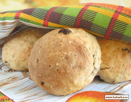 Рецепт Булочки с творогом из цельно зерновой муки