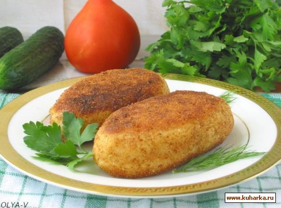 Рецепт Картофельные зразы с капустой и яйцом