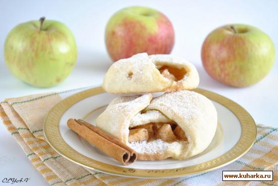 Рецепт Конвертики с яблоками