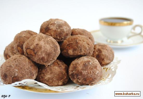 """Рецепт Печенье """"шоколадно-ореховые трюфели"""""""