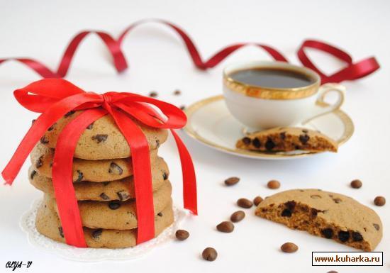 Рецепт Кофейное печенье с шоколадными каплями