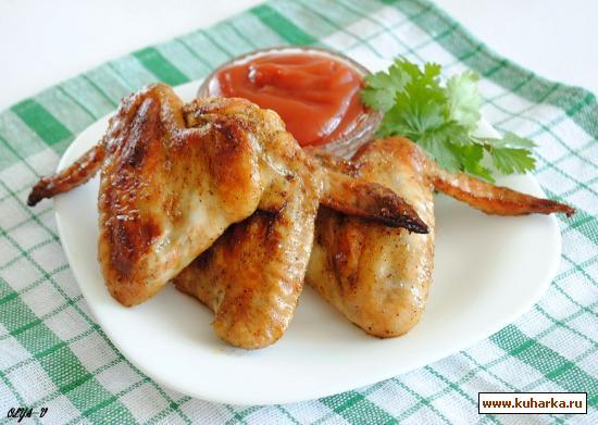 Рецепт Куриные крылышки в остром маринаде