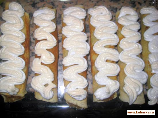 Рецепт Блинчики с яблоками под Безе