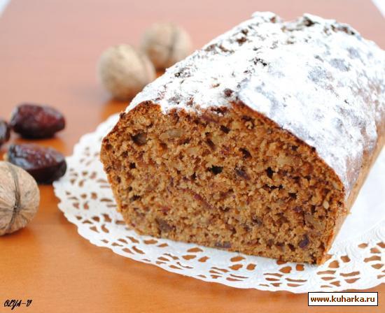 Рецепт Финиковый кекс с орехами