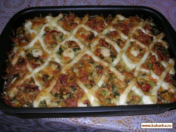Фарш с овощами в духовке рецепт пошагово в