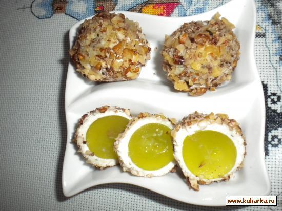 Рецепт Виноград в сыре и орехах