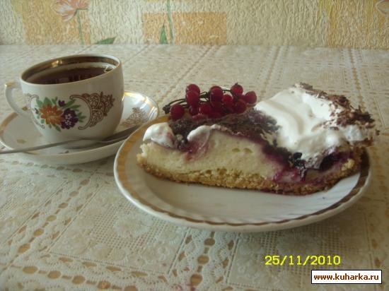Рецепт Нежный творожно-смородиновый пирог