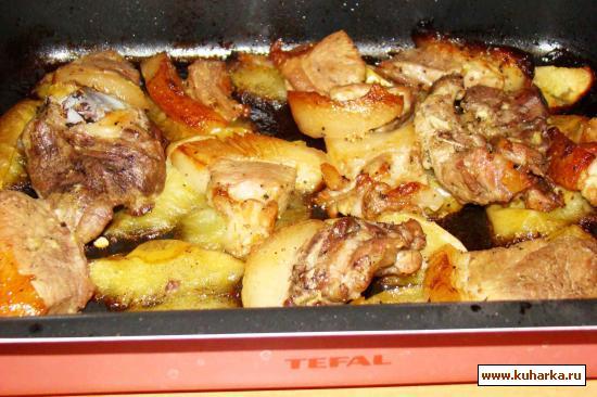 Рецепт Свинина на яблоках, запеченая в духовке