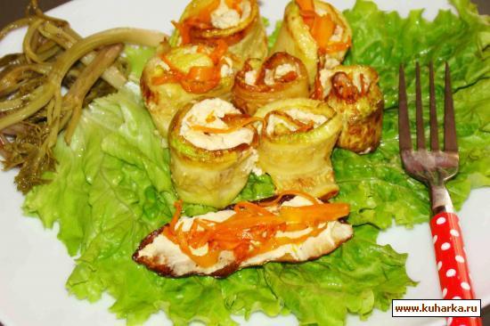 Рецепт Рулетики из кабачков с нежным яичным кремом