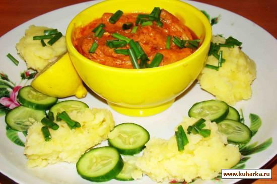 Рецепт Курица в томатно-сметанном соусе