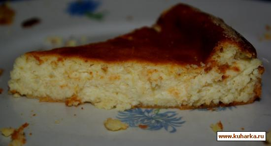 Рецепт Творожная запеканка с нежным ароматом ванили и лимона