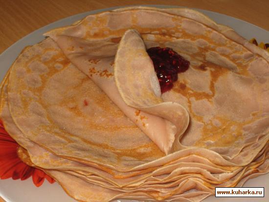 Рецепт Малиновые блины