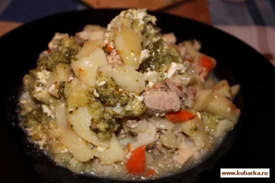 Рецепт Жаркое со свининой и брокколи