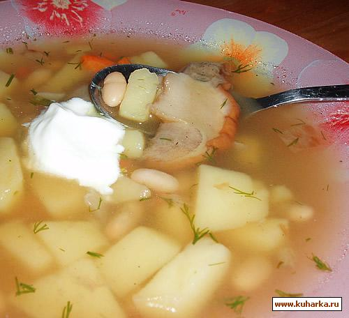 Рецепт Грибной суп с фасолью
