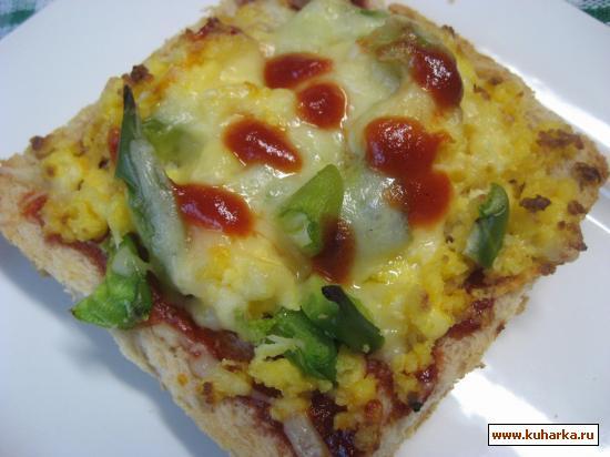 """Рецепт """" Пицца"""" на завтрак."""