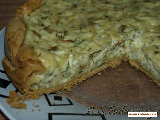 Рецепт Луковый пирог с плавленым сыром