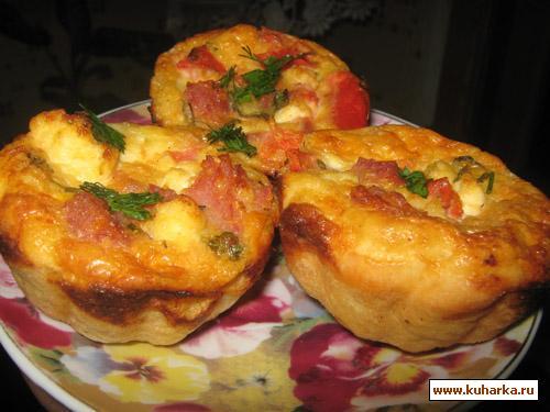 Рецепт Корзиночки с помидорами и сыром