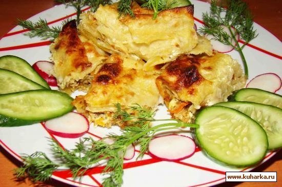Рецепт Рулет из лаваша с мясной начинкой