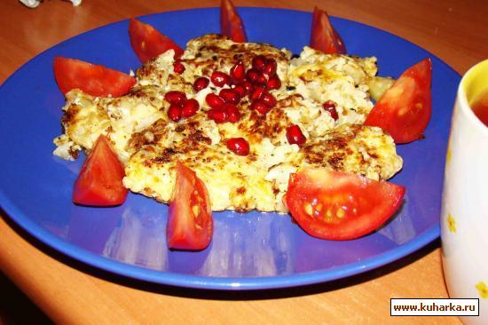 Рецепт Омлет с цветной капустой и петрушкой