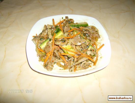 Рецепт Хе из куриных желудков