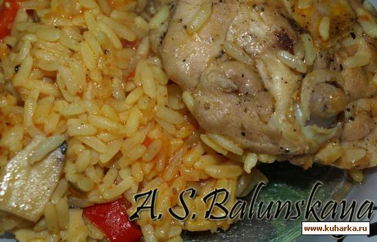 Рецепт Курица с рисом по-южному