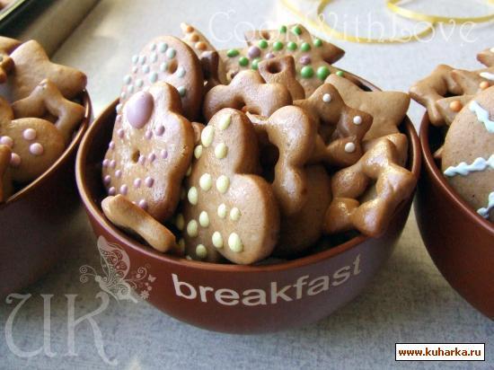 Рецепт Рождественские имбирные пряники