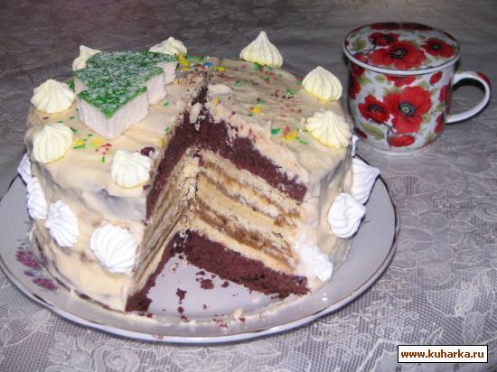 """Рецепт Торт """"Новогодняя горка"""""""