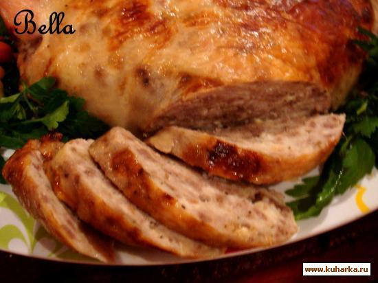 Рецепт Начинённая курица без костей
