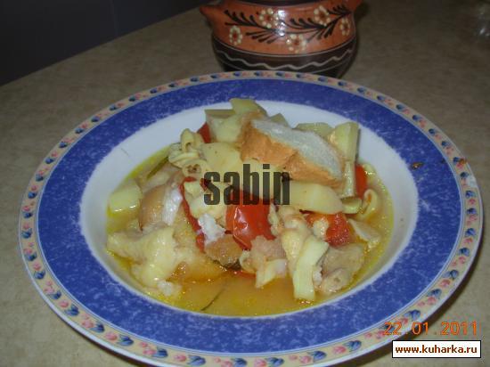 Рецепт Калдейрада из кальмаров и рыбы в горшочке