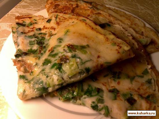 Рецепт Блинчики с зеленью